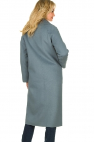 Clairval |  Wool coat Carole | blue  | Picture 6
