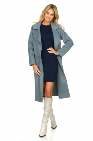 Clairval |  Super soft coat Carole | blue  | Picture 3