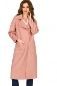 Clairval |  Wool coat Carole | pink  | Picture 2