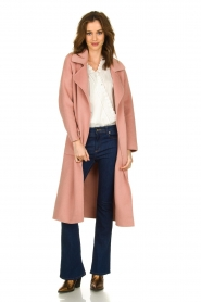 Clairval |  Wool coat Carole | pink  | Picture 3
