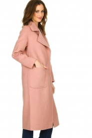 Clairval |  Wool coat Carole | pink  | Picture 4