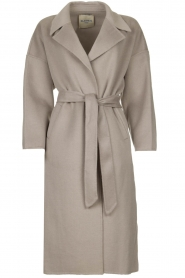 Clairval |  Super soft wrap coat Lou | grey  | Picture 1