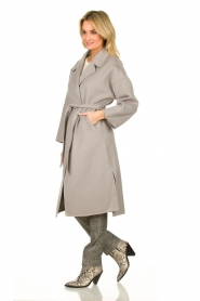 Clairval |  Wool wrap coat Lou | grey  | Picture 3