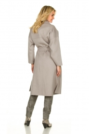 Clairval |  Wool wrap coat Lou | grey  | Picture 4