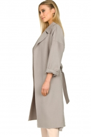 Clairval |  Super soft wrap coat Lou | grey  | Picture 6