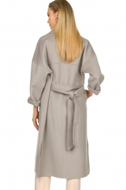 Clairval |  Super soft wrap coat Lou | grey  | Picture 7