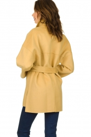 Clairval |  Super soft wrap coat Alice | yellow   | Picture 6
