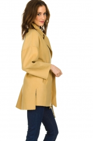 Clairval |  Super soft wrap coat Alice | yellow   | Picture 5