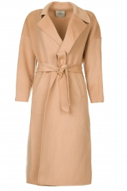 Clairval |  Wool wrap coat Lou | camel  | Picture 1