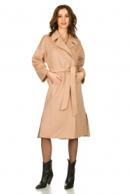 Clairval |  Wool wrap coat Lou | camel  | Picture 7