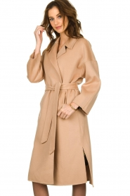 Clairval |  Wool wrap coat Lou | camel  | Picture 5