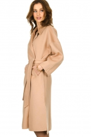 Clairval |  Wool wrap coat Lou | camel  | Picture 4