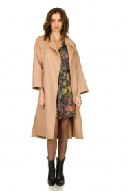 Clairval |  Wool wrap coat Lou | camel  | Picture 3