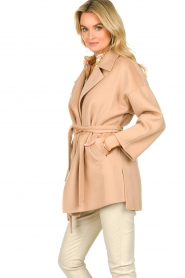 Clairval |  Super soft wrap coat Alice  | camel  | Picture 5