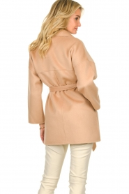 Clairval |  Super soft wrap coat Alice  | camel  | Picture 6