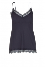 Set |  Cami with lace Chenna | dark blue  | Picture 1