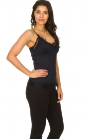 Set |  Cami with lace Chenna | dark blue  | Picture 3