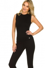 Lune Active |  Sleeveless rib top Bamboo | black  | Picture 2