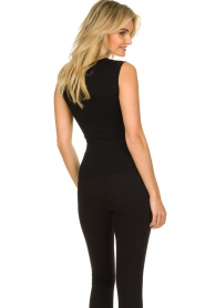 Lune Active |  Sleeveless rib top Bamboo | black  | Picture 6