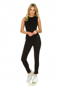 Lune Active |  Sleeveless rib top Bamboo | black  | Picture 3
