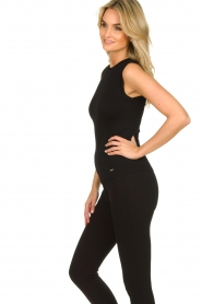 Lune Active |  Sleeveless rib top Bamboo | black  | Picture 5