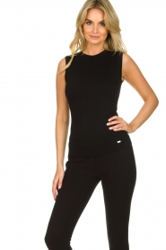 Lune Active |  Sleeveless rib top Bamboo | black  | Picture 4