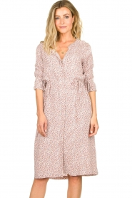JC Sophie |  Printed dress Dahlia | pink  | Picture 4