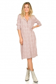 JC Sophie |  Printed dress Dahlia | pink  | Picture 3