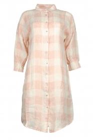 JC Sophie |  Linen checkered blouse dress Delhi | nude  | Picture 1