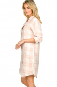 JC Sophie |  Linen checkered blouse dress Delhi | nude  | Picture 5