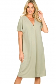 JC Sophie |  Modal midi dress Drew | green  | Picture 4