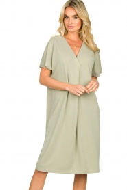 JC Sophie |  Modal midi dress Drew | green  | Picture 2