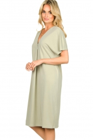 JC Sophie |  Modal midi dress Drew | green  | Picture 5