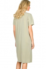 JC Sophie |  Modal midi dress Drew | green  | Picture 6