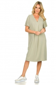 JC Sophie |  Modal midi dress Drew | green  | Picture 3