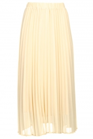 JC Sophie |  Long pleated skirt Deloris | beige  | Picture 1