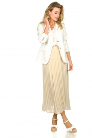 JC Sophie |  Long pleated skirt Deloris | beige  | Picture 3
