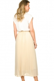 JC Sophie |  Long pleated skirt Deloris | beige  | Picture 7