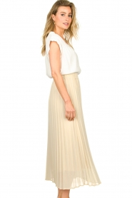 JC Sophie |  Long pleated skirt Deloris | beige  | Picture 6
