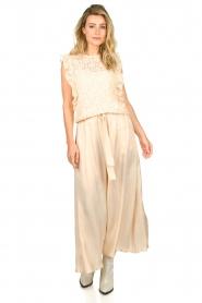 JC Sophie |  Belted maxi skirt Darlien | beige  | Picture 3