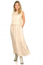 JC Sophie |  Belted maxi skirt Darlien | beige  | Picture 2