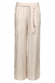 JC Sophie |  Belted wide leg trousers Darwin | grey  | Picture 1