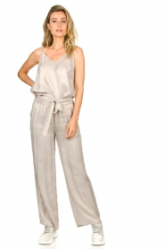 JC Sophie |  Belted wide leg trousers Darwin | grey  | Picture 3