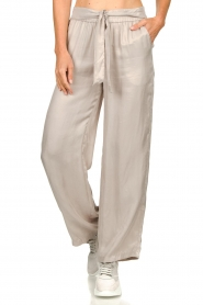 JC Sophie |  Belted wide leg trousers Darwin | grey  | Picture 4