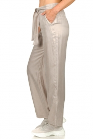 JC Sophie |  Belted wide leg trousers Darwin | grey  | Picture 5