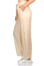 JC Sophie |  Belted wide leg trousers Darwin | beige  | Picture 5