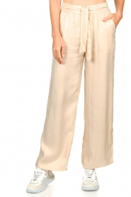 JC Sophie |  Belted wide leg trousers Darwin | beige  | Picture 4