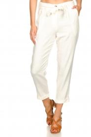JC Sophie |  Linen pants Debora | white  | Picture 4