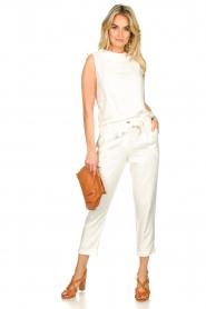 JC Sophie |  Linen pants Debora | white  | Picture 3