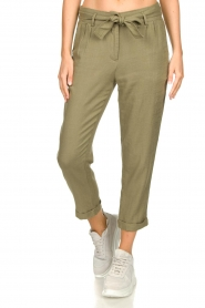 JC Sophie    Linen pants Debora   green    Picture 4
